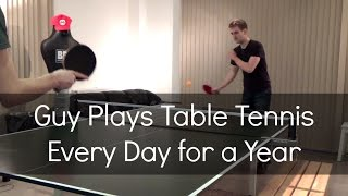 Table Tennis Highlights, Video - Guy Plays Table Tennis Every Day for a Year
