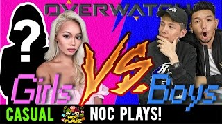 Video NOC Plays OVERWATCH! (NOC Girls vs NOC Boys) MP3, 3GP, MP4, WEBM, AVI, FLV November 2018