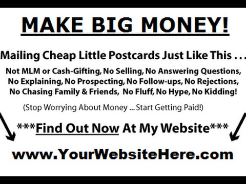 Cash Post Cards {Work At Home} Programs Buyers Direct Response Mailing List Broker