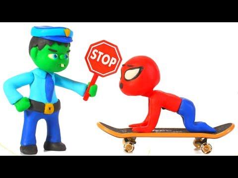 Video HULK POLICE STOPS SPIDERMAN ❤ Spiderman, Hulk & Frozen Play Doh Cartoons For Kids download in MP3, 3GP, MP4, WEBM, AVI, FLV January 2017