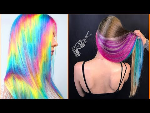10 Best Hair Color Transformation 2019! Rainbow Hair Tutorial Compilations