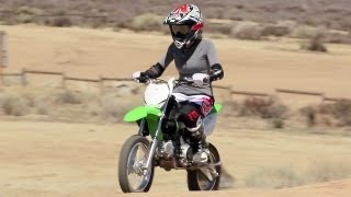 7. Crashing Kawasaki KLX 140 Motorcycles and Off-Road Riding - The J-Turn Episode 5