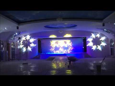 Thi công lắp đặt Setup hệ thống đèn sân khấu nhà hàng tiệc cưới Nam Việt - Bình Dương