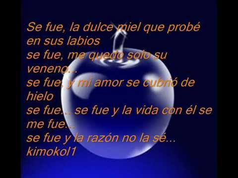 , title : 'Se fue - Laura Pausini (Letra)'