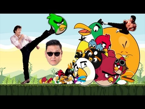 angry birds vs chuck norris vs psy gangnam style(강남스타일)