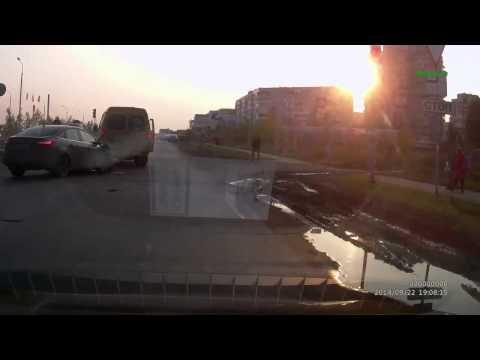 Авария с переворотом в Омске