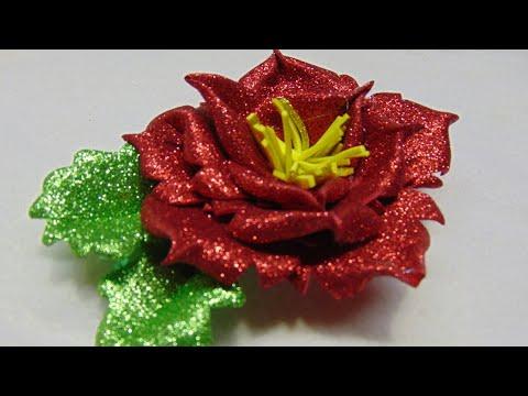 bellissimo fiore realizzato in foamy