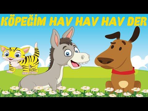 KÖPEĞİM HAV HAV HAV DER - BENDEN NE İSTER -  Hayvanlı Çocuk Şarkısı - Mutlu Çocuk Şarkıları