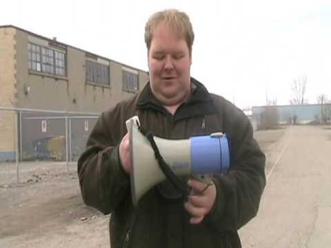 Fanon MV2025s Bullhorn Megaphone Loud Speaker Demonstration