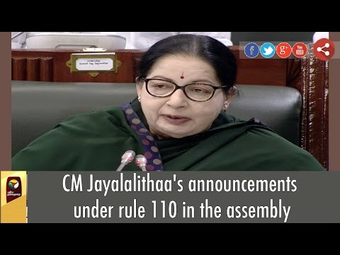 Full-Speech-CM-Jayalalithaas-Announcements-under-rule-110-at-Assembly