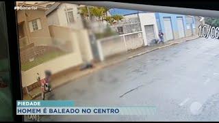 Homem baleado em tentativa de roubo no centro de Piedade