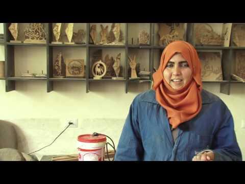 """""""إرادة """" برنامج نوعي لتدريب معاقي غزة"""