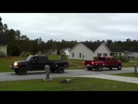 Duramax vs. Powerstroke neighborhood tug-of-war battle