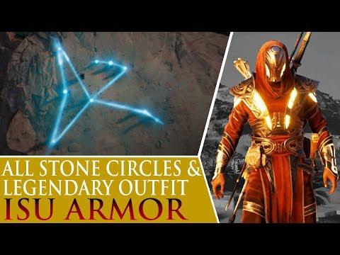 Assassin's Creed: Origins - Isu Armor & All Stone Circles (Bayek's Promise)