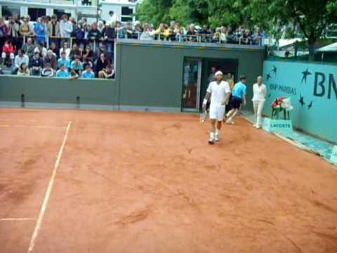 Andújar ante Fernando González (Roland Garros 2008)