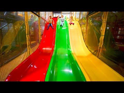 Busfabriken Indoor Playground Fun for Kids #1-#6 (видео)