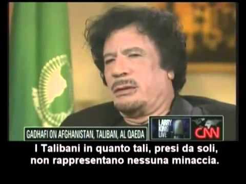 gheddafi parla dell'11 settembre: poco dopo sarà bombardato!