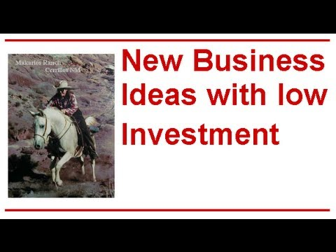 New Business Ideas with Low Investment; We Have Great New Business Ideas with Low Investment