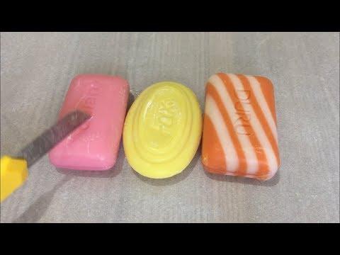 3 Hard Soap! ASMR Satisfying Video/ Cutting Carving - ASMR Rahatlatıcı Dinlendirici Sabun Kesme💛🧡
