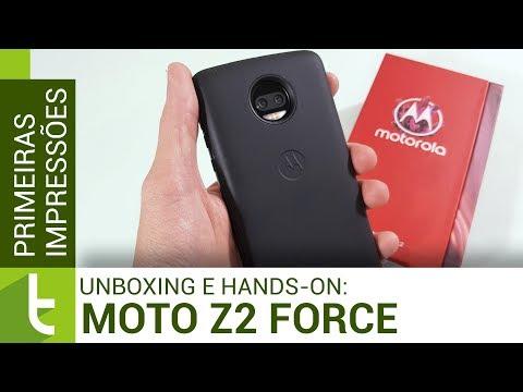 Unboxing e primeiras impressões do Moto Z2 Force Power Edition  TudoCelular.com