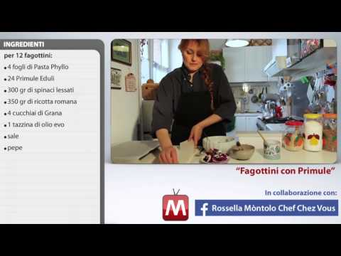 fagottini con primule - ricetta