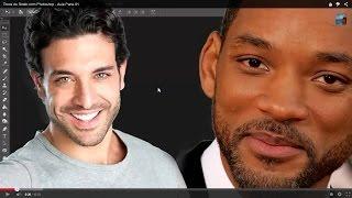 Troca de Rosto com Photoshop CC - Aula Parte 02 (corrigindo erros)