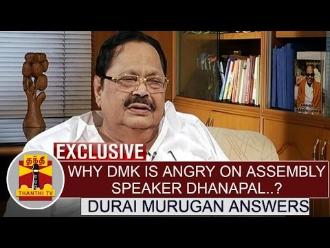 Why-DMK-is-angry-on-Assembly-Speaker-Dhanapal--Durai-Murugan-Answers