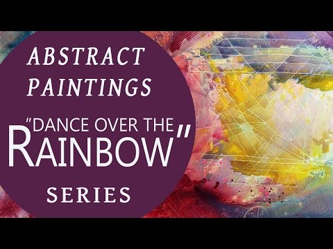 "Abstract acrylic paintings |London| part 2: ""Dance over the rainbow"", abstrakte Malerei"