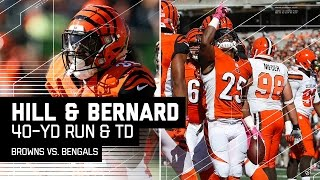 The Bengals had their running game working early against the Cleveland Browns. RB Jeremy Hill gashed the Browns for 40 yards ...