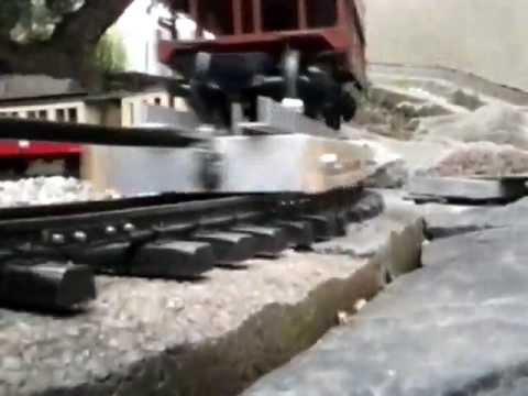 Erster Test des Eigenbau LGB Rollwagen