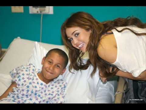 Miley Cyrus visiting the Kosair Children's hospital in Louisville, KY
