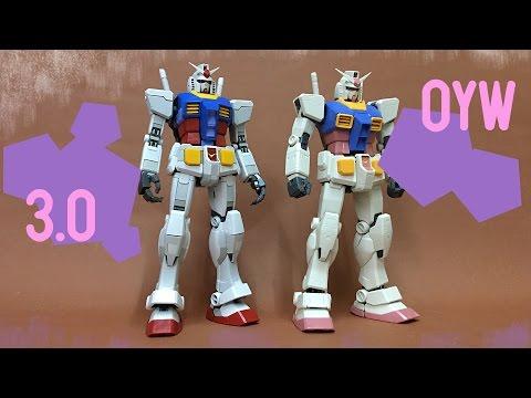 MG Gundam RX 78 3.0 Compare with OYW