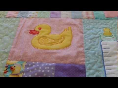 How to Machine Applique Baby Quilt Part 7 (Finished)
