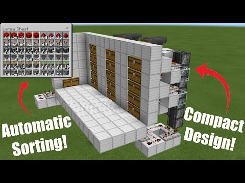 Simple Automatic Compact Silent Expandable Multi-item Sorting System - Bedrock Tutorial