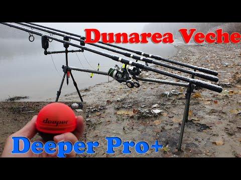 Pescuit Dunarea Veche Macin si utilizare sonar Deeper Pro+