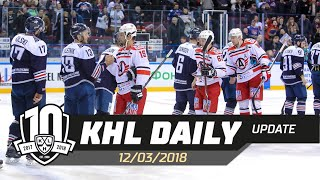 Daily KHL Update - March 12th, 2018 (English)