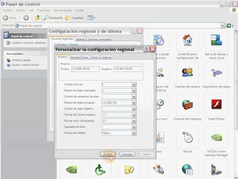 Cambiar configuracion regional y de idioma