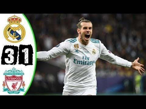 3-1 Real madrid vs liverpool RAMOS ATTACKS SALAH!🏆 Bale goal! Real Win the Champions League! Karius!