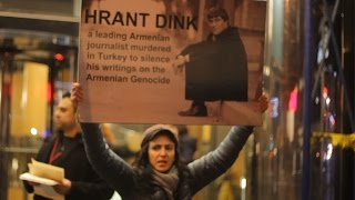 Hrant Dink 10 year assassination anniversary, NYC protest
