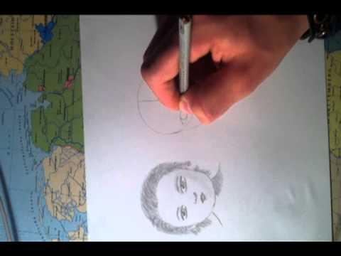 Baby, Teen und Erwachsenen Gesicht zeichnen (speed)