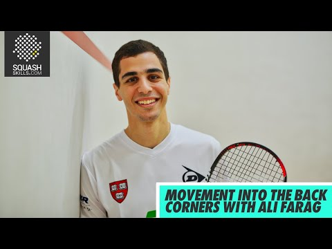 Squash tips: Movement into the back corners with Ali Farag