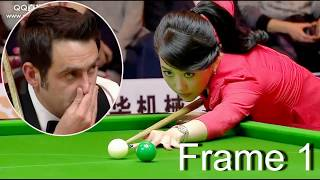 Video frame 1, ronnie   won pan xiaoting (  china girl ) 6 red snooker  special match MP3, 3GP, MP4, WEBM, AVI, FLV Februari 2019