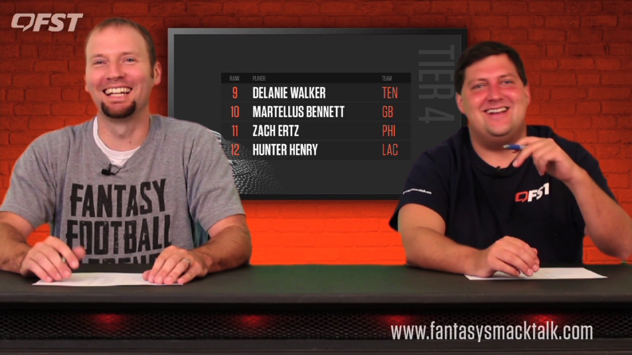 2017 Fantasy Football Tight End Tiers and Rankings thumbnail