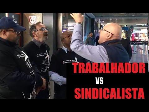 Trabalhador vs Sindicalista - Aeroporto Porto Alegre (RS) - ASSISTA ATE O FIM