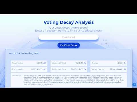Appeal to EOS community - Change proxy vote decay rules