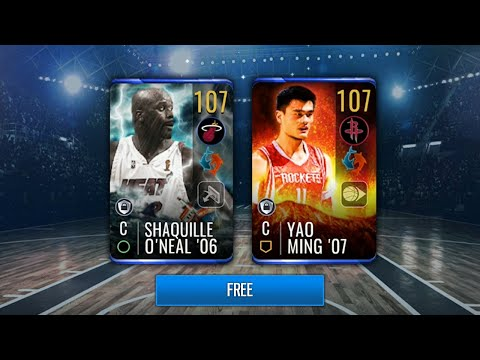 HOW TO GET 2X 107 SHAQ ATTACK CARDS WITHOUT SPENDING MONEY IN NBA LIVE MOBILE