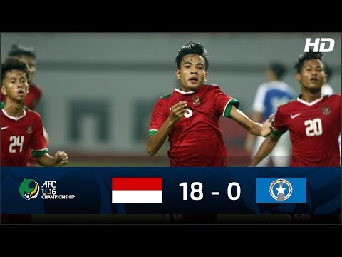 Indonesia U 16 (18 - 0) Northern Mariana Island U 16 | FULL HIGHLIGHTS AFC U16