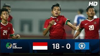 Video Indonesia U 16 (18 - 0) Northern Mariana Island U 16 | FULL HIGHLIGHTS AFC U16 MP3, 3GP, MP4, WEBM, AVI, FLV November 2017