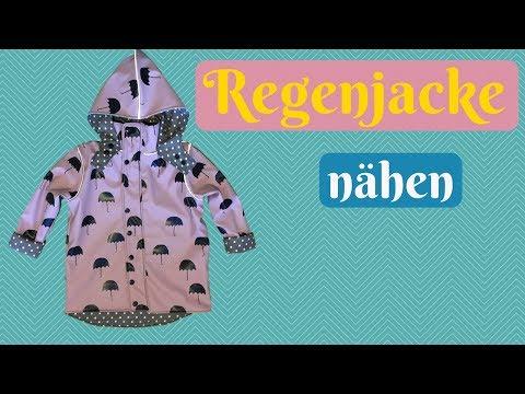 Regenjacke für Kinder nähen - Nähanleitung für eine Jacke mit Kapuze + kostenlosem Schnittmuster