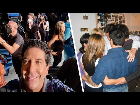 Friends Reunion: David Schwimmer INVITES Fans Inside the Cast Huddle Now and Then